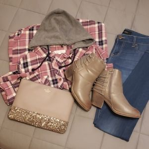 Rue21 Taupe Booties